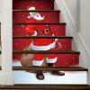 Christmas Santa Claus Pattern Decorative Stair Decals - RED
