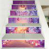 Christmas Fireplace Tree Pattern Decorative Stair Decals - LIGHT PURPLE