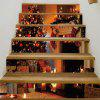 Christmas Tree Fireplace Pattern Decorative Stair Decals - BROWN