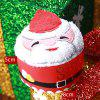 Christmas Decorations Santa Snowman Tree Cupcake Towel - RED
