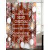 Christmas Snowflake Letter Print Waterproof Shower Curtain - COLORMIX