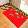 Christmas Pine Biscuit Pattern Water Absorption Area Rug - RED