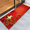 Christmas Bowknot Chain Pattern Water Absorption Area Rug - RED