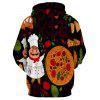 Pizza Gourmet Printed Pullover Hoodie - COLORMIX