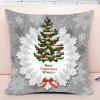 Christmas Tree Print Square Funda de almohada decorativa - GRIS