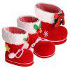 3 Pieces Different Size Christmas Shoes Gift Boxes - RED