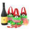 3 Pieces Christmas Elf Body Candy Tote Gift Bags - GREEN