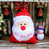 2 PCS Santa Claus Candy Gift Bags - RED