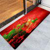 Christmas Shoe Pattern Water Absorption Area Rug - RED