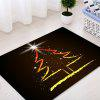 Christmas Tree Star Pattern Water Absorption Area Rug - COLORMIX