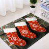 Christmas Socks Pattern Water Absorption Area Rug - RED