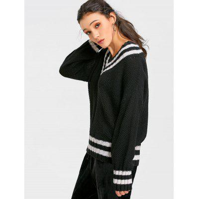 Drop Shoulder Baggy Cricket JumperSweaters &amp; Cardigans<br>Drop Shoulder Baggy Cricket Jumper<br><br>Collar: V-Neck<br>Elasticity: Elastic<br>Material: Acrylic, Polyester, Spandex<br>Package Contents: 1 x Sweater<br>Pattern Type: Stripe<br>Sleeve Length: Full<br>Style: Casual<br>Type: Pullovers<br>Weight: 0.6700kg