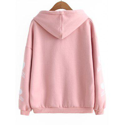 Heart Letter Embroidered Drawstring HoodieSweatshirts &amp; Hoodies<br>Heart Letter Embroidered Drawstring Hoodie<br><br>Clothing Style: Hoodie<br>Material: Cotton, Polyester<br>Package Contents: 1 x Hoodie<br>Pattern Style: Letter<br>Shirt Length: Regular<br>Sleeve Length: Full<br>Weight: 0.4800kg