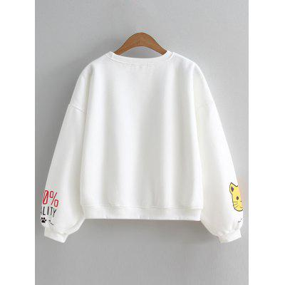 Cat Slogan Cute Oversized SweatshirtSweatshirts &amp; Hoodies<br>Cat Slogan Cute Oversized Sweatshirt<br><br>Clothing Style: Sweatshirt<br>Material: Cotton, Polyester<br>Package Contents: 1 x Sweatshirt<br>Pattern Style: Print<br>Shirt Length: Regular<br>Sleeve Length: Full<br>Weight: 0.4000kg