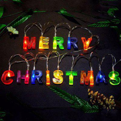 Merry Christmas Letters Decorations LED String Lights