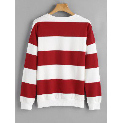 Striped Drop Shoulder Loose SweatshirtSweatshirts &amp; Hoodies<br>Striped Drop Shoulder Loose Sweatshirt<br><br>Clothing Style: Sweatshirt<br>Material: Cotton, Polyester<br>Package Contents: 1 x Sweatshirt<br>Pattern Style: Striped<br>Shirt Length: Regular<br>Sleeve Length: Full<br>Weight: 0.4700kg
