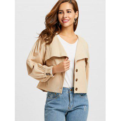 Lantern Sleeve Jacket with BeltJackets &amp; Coats<br>Lantern Sleeve Jacket with Belt<br><br>Clothes Type: Jackets<br>Collar: Turn-down Collar<br>Embellishment: Button<br>Material: Polyester<br>Package Contents: 1 x Jacket 1 x Belt<br>Pattern Type: Solid<br>Shirt Length: Short<br>Sleeve Length: Full<br>Sleeve Type: Lantern Sleeve<br>Style: Fashion<br>Type: Wide-waisted<br>Weight: 0.5300kg<br>With Belt: Yes