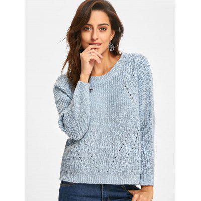 Crew Neck Hollow Out Drop Shoulder SweaterSweaters &amp; Cardigans<br>Crew Neck Hollow Out Drop Shoulder Sweater<br><br>Collar: Crew Neck<br>Material: Acrylic<br>Package Contents: 1 x Sweater<br>Pattern Type: Solid<br>Season: Fall, Spring<br>Sleeve Length: Full<br>Style: Fashion<br>Type: Pullovers<br>Weight: 0.5500kg
