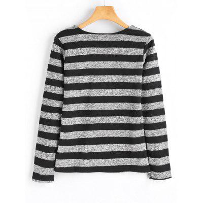 Fleece Inside Stripes TopTees<br>Fleece Inside Stripes Top<br><br>Collar: Round Neck<br>Material: Cotton, Polyester<br>Package Contents: 1 x Top<br>Pattern Type: Striped<br>Seasons: Autumn,Spring,Spring/Fall,Winter<br>Shirt Length: Regular<br>Sleeve Length: Full<br>Style: Fashion<br>Weight: 0.4400kg