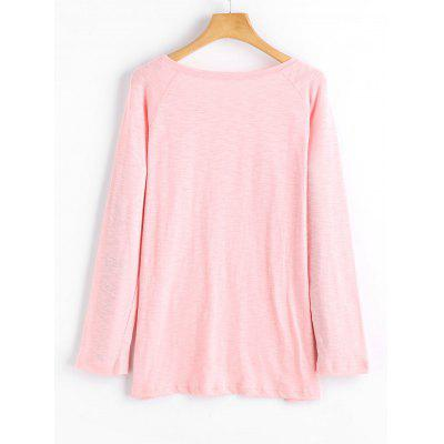 High Low Raglan Sleeve TopTees<br>High Low Raglan Sleeve Top<br><br>Collar: Round Neck<br>Material: Cotton, Polyester<br>Package Contents: 1 x Top<br>Pattern Type: Solid<br>Seasons: Autumn,Spring,Spring/Fall<br>Shirt Length: Regular<br>Sleeve Length: Full<br>Style: Fashion<br>Weight: 0.2700kg