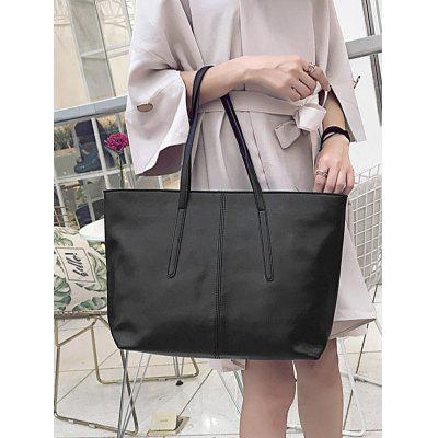 Faux Leather Stitching Zip Tote BagHandbags<br>Faux Leather Stitching Zip Tote Bag<br><br>Closure Type: Zipper<br>Gender: For Women<br>Handbag Size: Medium(30-50cm)<br>Handbag Type: Totes<br>Interior: Interior Zipper Pocket, Cell Phone Pocket<br>Main Material: PU<br>Occasion: Versatile<br>Package Contents: 1 x Tote Bag<br>Pattern Type: Solid<br>Style: Fashion<br>Weight: 1.2000kg