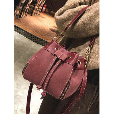 Faux Leather String HandbagHandbags<br>Faux Leather String Handbag<br><br>Closure Type: String<br>Gender: For Women<br>Handbag Size: Mini(&lt;20cm)<br>Handbag Type: Totes<br>Main Material: PU<br>Occasion: Versatile<br>Package Contents: 1 x Handbag<br>Pattern Type: Solid<br>Style: Fashion<br>Weight: 0.4200kg