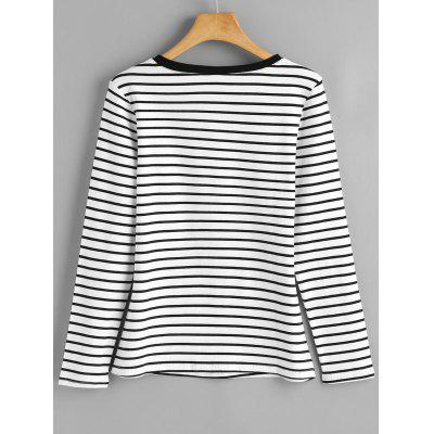 Sweetheart Striped Long Sleeve TopTees<br>Sweetheart Striped Long Sleeve Top<br><br>Collar: Sweetheart Neck<br>Material: Cotton, Polyester<br>Package Contents: 1 x Top<br>Pattern Type: Striped<br>Seasons: Autumn,Spring,Spring/Fall<br>Shirt Length: Regular<br>Sleeve Length: Full<br>Style: Fashion<br>Weight: 0.2700kg