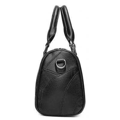 Stitching Letter Faux Leather HandbagHandbags<br>Stitching Letter Faux Leather Handbag<br><br>Closure Type: Zipper<br>Gender: For Women<br>Handbag Size: Small(20-30cm)<br>Handbag Type: Totes<br>Main Material: PU<br>Occasion: Versatile<br>Package Contents: 1 x Handbag<br>Pattern Type: Solid<br>Style: Fashion<br>Weight: 0.6000kg