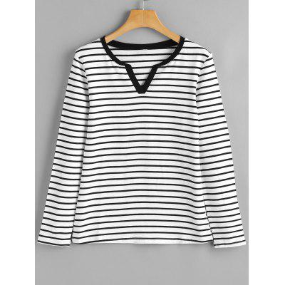 Sweetheart Striped Long Sleeve Top