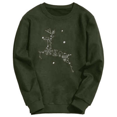 Christmas Reindeer Embroidered Suede SweatshirtMens Hoodies &amp; Sweatshirts<br>Christmas Reindeer Embroidered Suede Sweatshirt<br><br>Material: Cotton Blends, Polyester<br>Package Contents: 1 x Sweatshirt<br>Pattern Type: Others<br>Shirt Length: Regular<br>Sleeve Length: Full<br>Style: Fashion<br>Weight: 0.6300kg