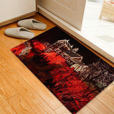 Christmas House Light Pattern Water Absorption Area Rug