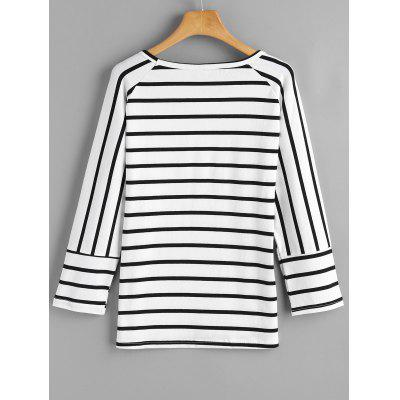 Asymmetrical Stripes Loose TopTees<br>Asymmetrical Stripes Loose Top<br><br>Collar: Round Neck<br>Material: Cotton, Polyester<br>Package Contents: 1 x Top<br>Pattern Type: Striped<br>Seasons: Autumn,Spring,Spring/Fall<br>Shirt Length: Regular<br>Sleeve Length: Full<br>Style: Fashion<br>Weight: 0.2700kg