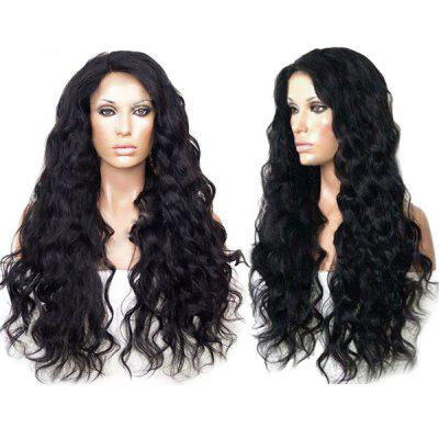 Long Side Parting Fluffy Body Wave Synthetic Wig