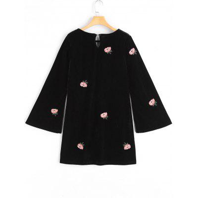 Floral Patched Flare Sleeve Keyhole DressLong Sleeve Dresses<br>Floral Patched Flare Sleeve Keyhole Dress<br><br>Dresses Length: Mini<br>Embellishment: Patch Designs<br>Material: Polyester<br>Neckline: Keyhole Neck<br>Occasion: Casual, Going Out<br>Package Contents: 1 x Dress<br>Pattern Type: Floral<br>Season: Fall<br>Silhouette: Shift<br>Sleeve Length: Long Sleeves<br>Style: Brief<br>Weight: 0.4400kg<br>With Belt: No