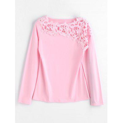 Lace Panel Layering Long Sleeve Top