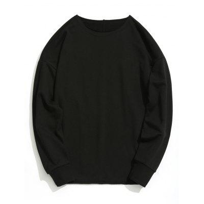 Raw Hem Drop Shoulder Sweatshirt