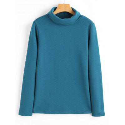 Turtleneck Cotton Long Sleeve Top