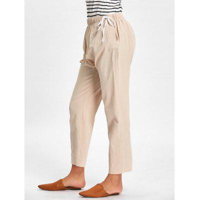 Casual Side Drawstring Elastic Waist Pants