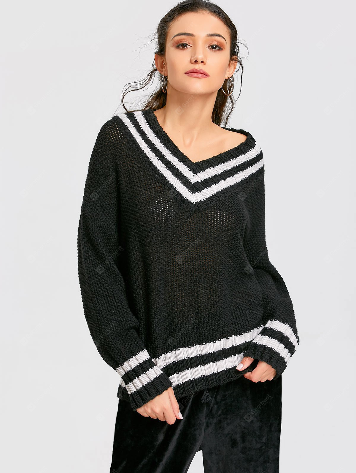 Drop Shoulder Baggy Cricket Jumper