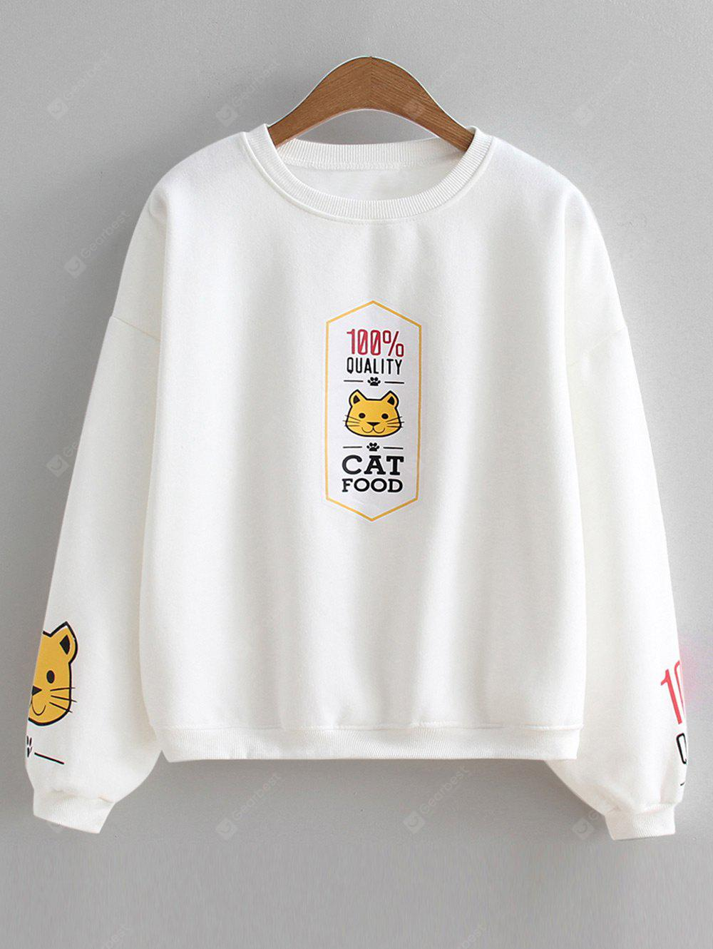Sudadera con capucha Cat Slogan Cute