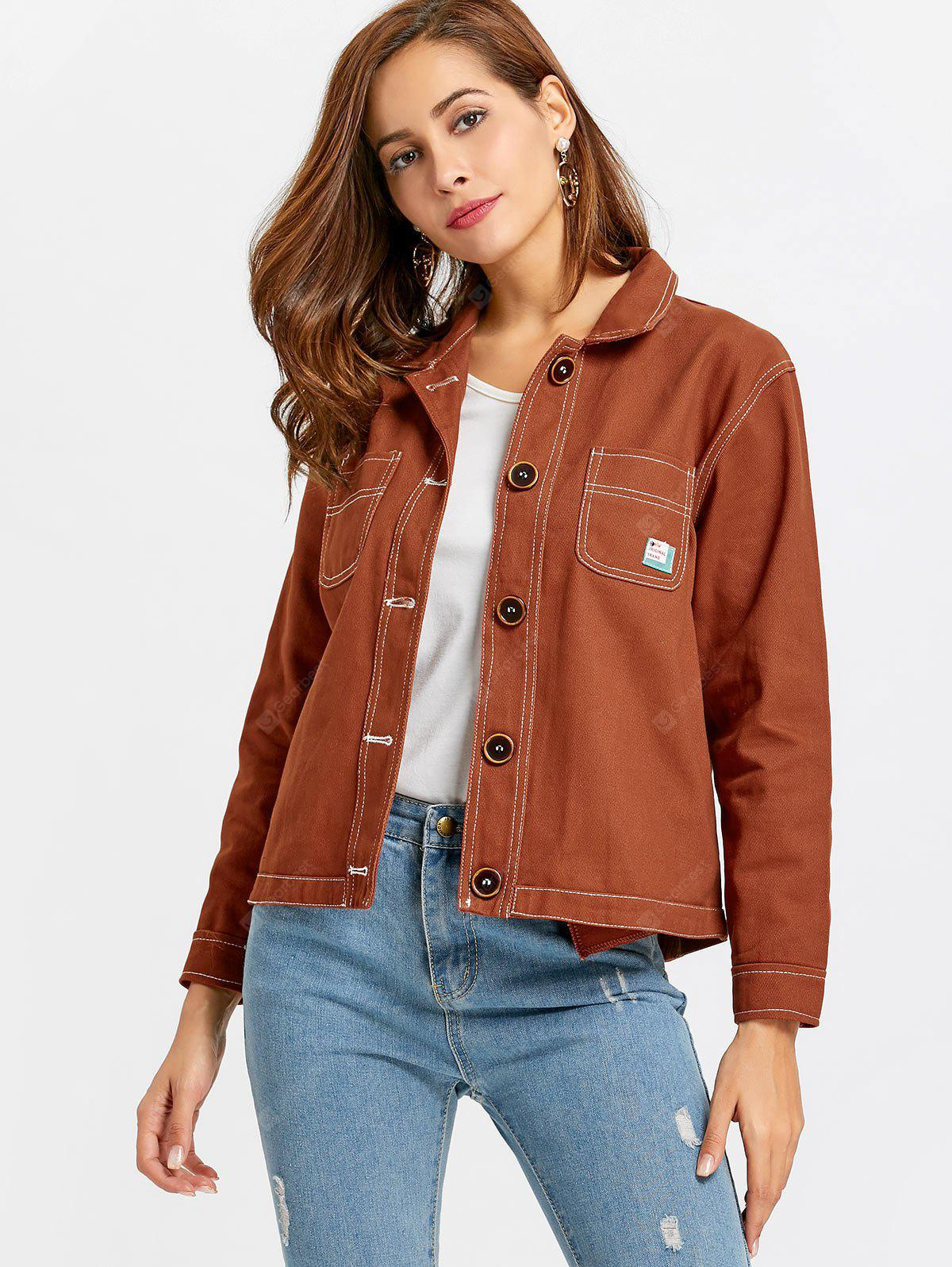 Button Up Jacket with Pockets