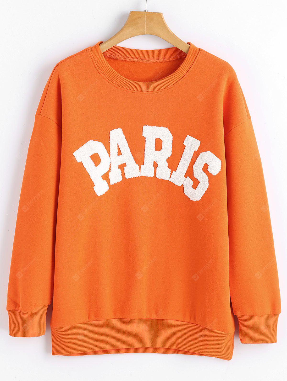 Paris Print Long Sleeve Sweatshirt