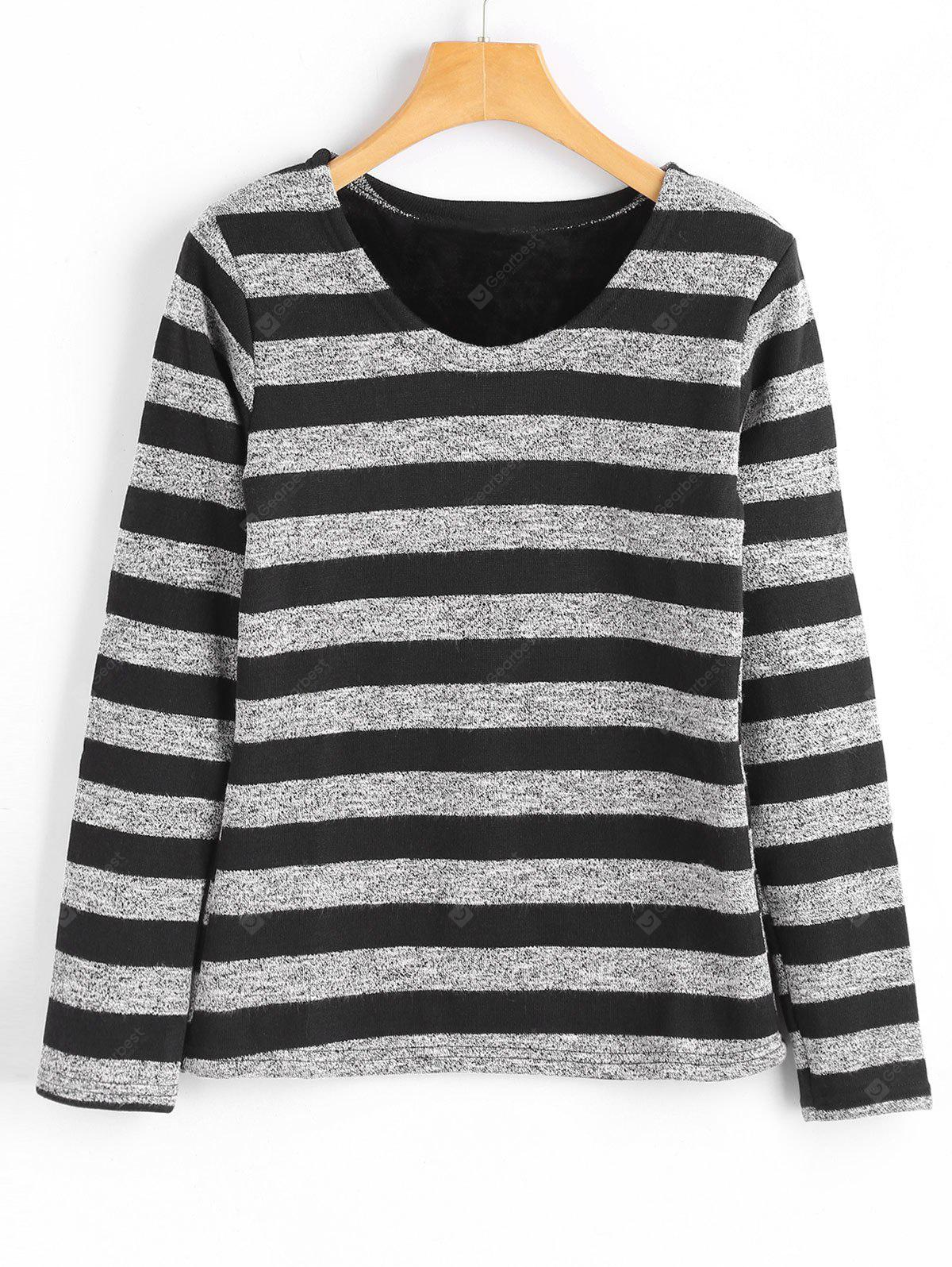 Fleece Inside Stripes Top