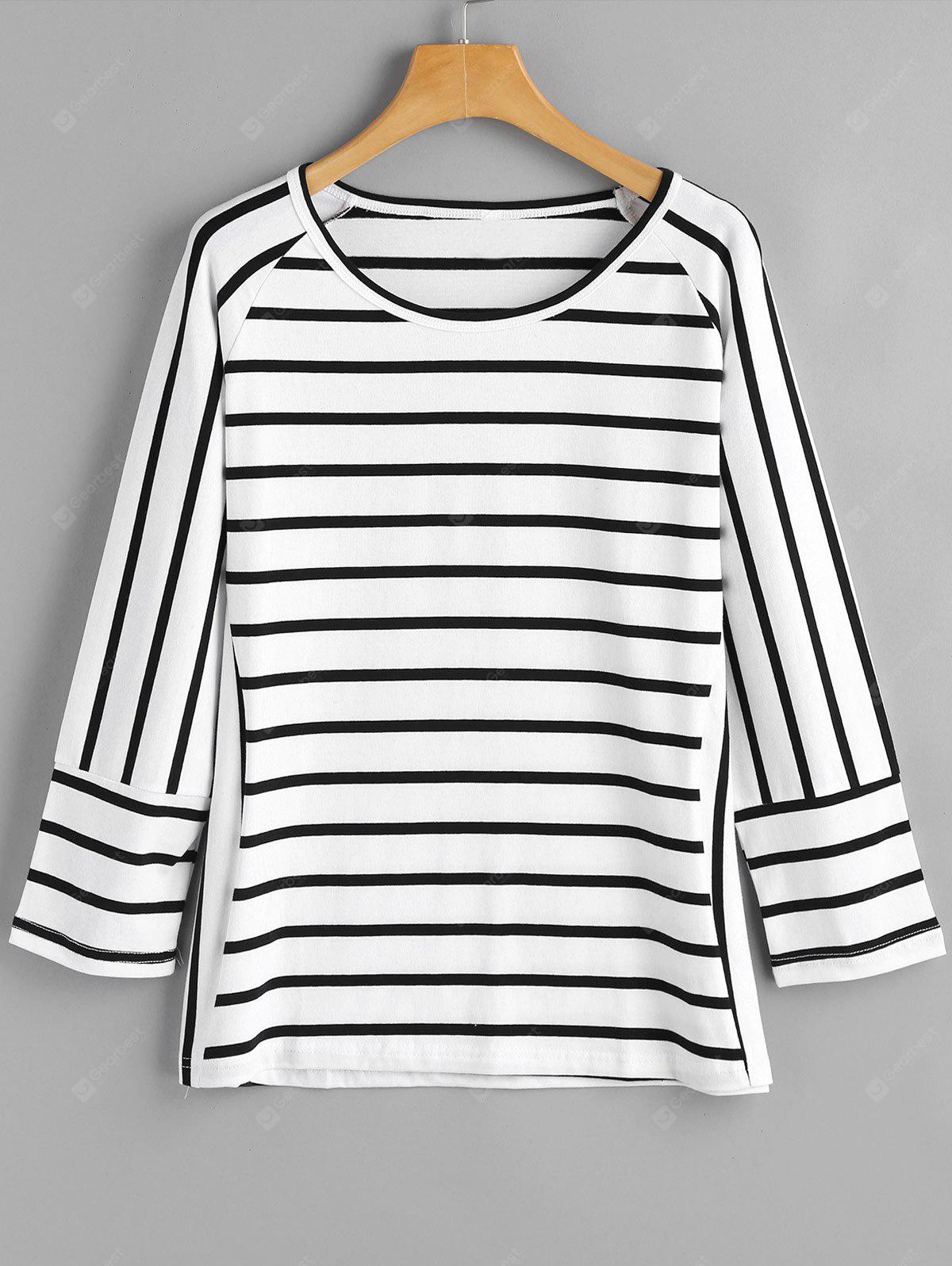 Asymmetrical Stripes Loose Top