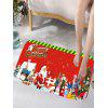 Flannel Skidproof Merry Christmas Graphic Bath Mat - RED