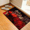 Christmas House Light Pattern Water Absorption Area Rug - RED