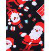 Christmas Santa Claus Print Mini Swing Dress - BLACK
