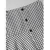Checked Buttoned Flounces A Line Skirt - CHECKED