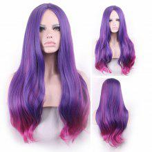 Long Center Parting Colormix Straight Party Synthetic Wig