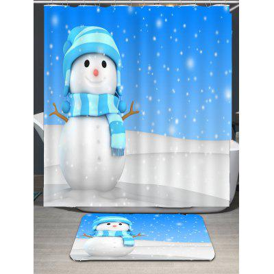 Scarf Snowman Printed Waterproof Shower CurtainShower Curtain<br>Scarf Snowman Printed Waterproof Shower Curtain<br><br>Materials: Polyester<br>Number of Hook Holes: W59 inch*L71 inch: 10; W71 inch*L71 inch: 12; W71 inch*L79 inch: 12<br>Package Contents: 1 x Shower Curtain 1 x Hooks (Set)<br>Pattern: Snowman<br>Products Type: Shower Curtains<br>Style: Festival